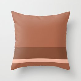 Solid Three-Tone Terracotta w/ Divider Lines 3 - Abstract Art #ArtOfGaneneK Art Print Throw Pillow