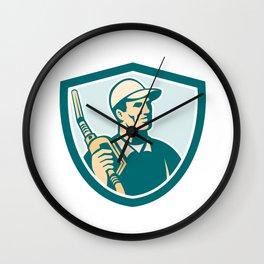 Gasoline Attendant Fuel Pump Nozzle Shield Wall Clock