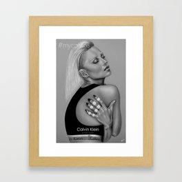 #MyCalvinsKateMoss Framed Art Print