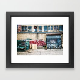 Around Back Framed Art Print