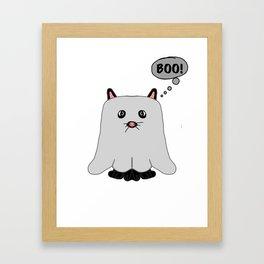 Boo Kitty #2 Framed Art Print