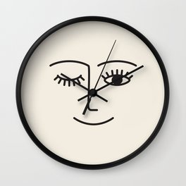 Wink (Off White) Wall Clock