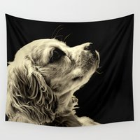 puppy Wall Tapestries featuring Puppy Love by Roger Wedegis