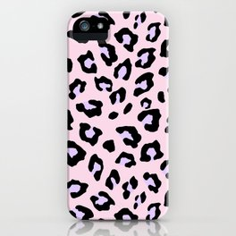 Leopard Print - Lavender Blush iPhone Case