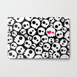A skull in love Metal Print