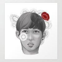 S.coups flower boy Art Print
