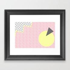 MEMPHIS PINK Framed Art Print