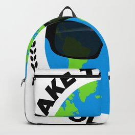 make the earth cool again climate change climate earth Backpack