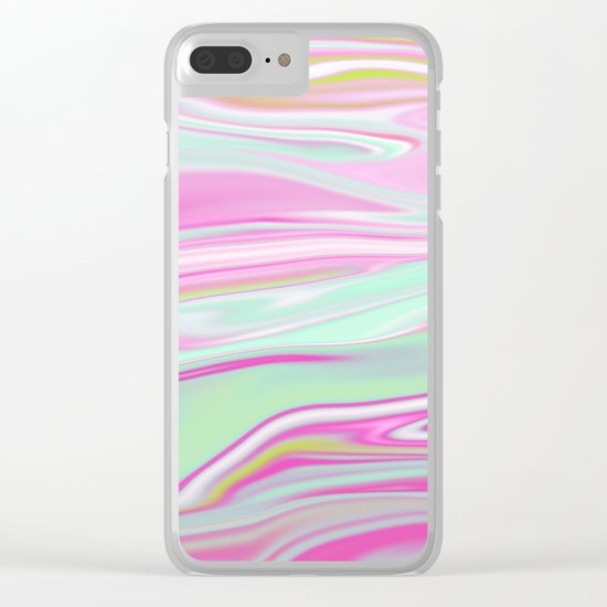 Iridescent Marble 11 Clear iPhone Case