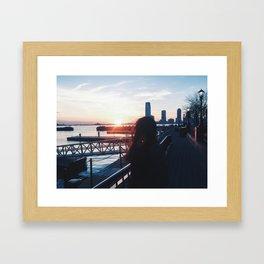 Night Sun Framed Art Print