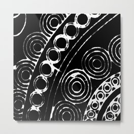 rounded corner in black Metal Print