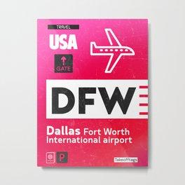 DFW RED Metal Print
