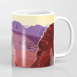 NASA Retro Space Travel Poster #8 Kepler 16b Coffee Mug
