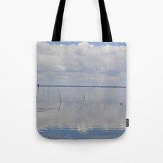 Picture Perfect Blue Sky Water Bay Scene Landscape  Tote Bag