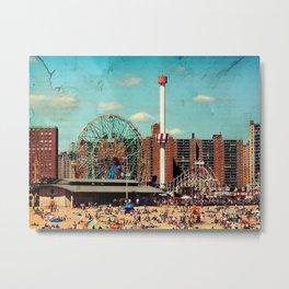 Vintage Coney Island Metal Print