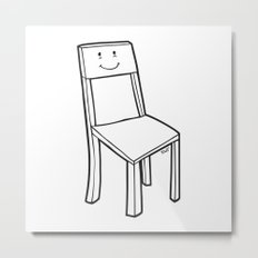 chair boy Metal Print