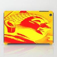 buddah iPad Cases featuring Buddah Head 04; Orange Blush by Kether Carolus