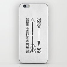 When Nothing Goes Right, Go Left iPhone & iPod Skin