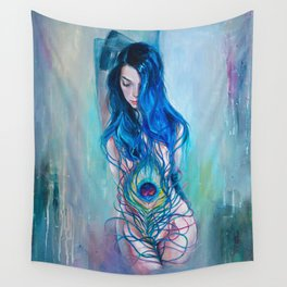 Peafowl Flow Wall Tapestry