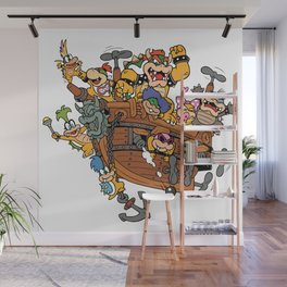Father and His Children Wall Mural