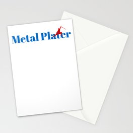 Metal Plater Ninja in Action Stationery Cards