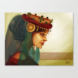 Sibylla, Queen of Jerusalem Canvas Print