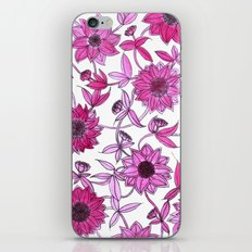 small pink flowers iPhone & iPod Skin