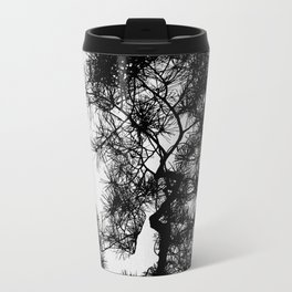 Pine Tree Black & White Travel Mug