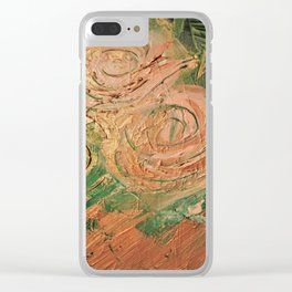 copper roses abstract Clear iPhone Case