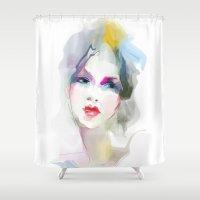 decorative Shower Curtains featuring decorative by tatiana-teni