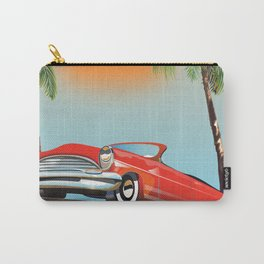 Vintage Red Classic Car Carry-All Pouch