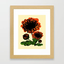 November birth flower  chrysanthemum Framed Art Print