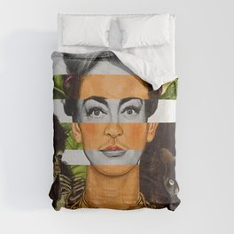 """Self Portrait with Thorn Necklace"" & Joan Crawford Comforters"