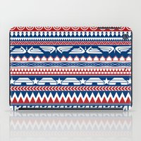 steve rogers iPad Cases featuring Tribal Heroes - Steve Rogers by monobuu