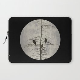 Full Moon and Crows Laptop Sleeve