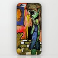 toilet iPhone & iPod Skins featuring Girl and Toilet by Nicole Medearis