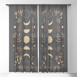 Autumnal Night Sheer Curtain