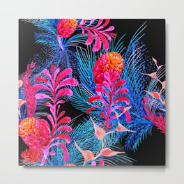 Psychedelic Tropical Plants Metal Print