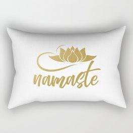Namaste | Lotus Flower Yoga Yoga Jogi Meditation Rectangular Pillow