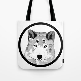 Hippie Wolf Tote Bag