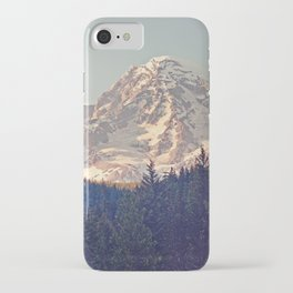 Mount Rainier Retro iPhone Case
