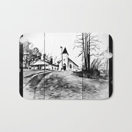 There's A Church In The Valley Bath Mat