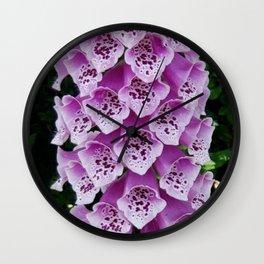 Lavender Foxglove Flower Wall Clock