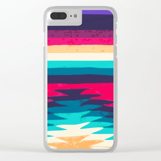 SURF GIRL Clear iPhone Case