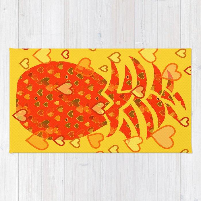 I Love Pineapple Rug