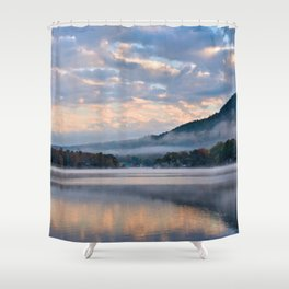 Pastel Dawn in the Adirondacks Shower Curtain