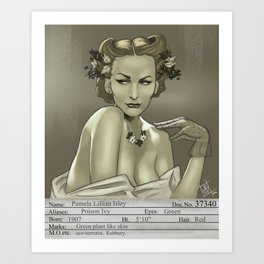 1930s Poison Ivy Mugshot Art Print