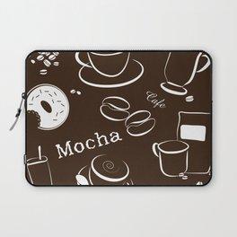 Coffee Background Pattern - 04 Dark Laptop Sleeve