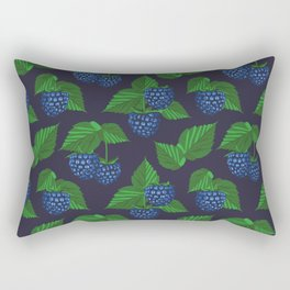 Blackberry on dark blue background Rectangular Pillow