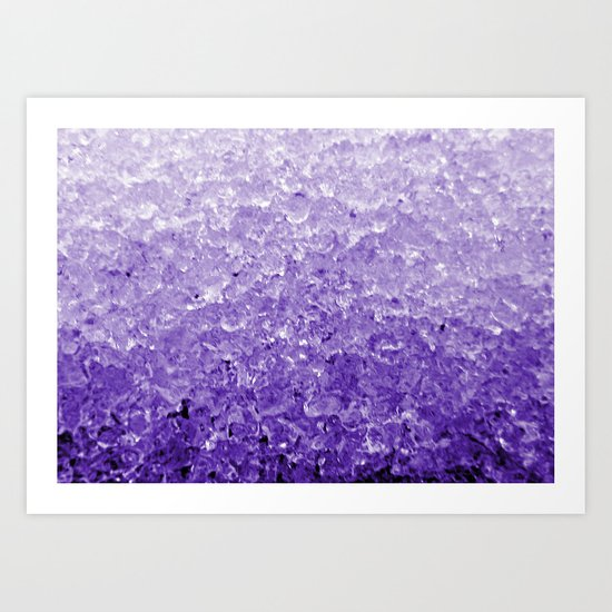 Purple ice Art Print